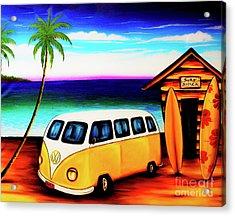 Surf Shack Yellow, The Bali Collection Acrylic Print