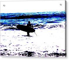 Surf Acrylic Print by Tim Tanis