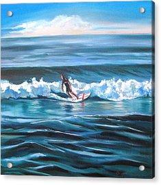 Surf Acrylic Print by Yvonne Dagger
