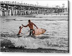 Surfboard Inspirational - Selective Color Acrylic Print