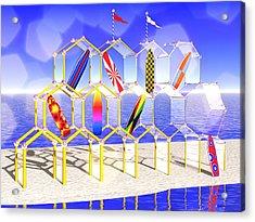 Surfboard Palace Acrylic Print