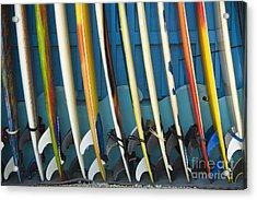 Surfboards Acrylic Print by Dana Edmunds - Printscapes