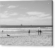 Strollin On Dog Beach Acrylic Print