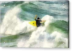 Acrylic Print featuring the digital art Surfer 76 by Francesa Miller