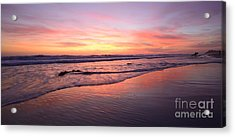 Surfer Afterglow Acrylic Print