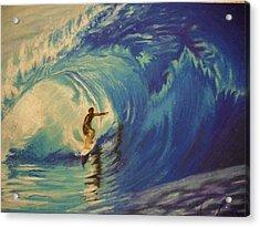 Surfer Acrylic Print by Agnes V