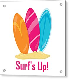Surfer Art - Surf's Up Surfboards Acrylic Print