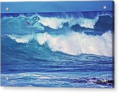 Surfer Catching A Wave Acrylic Print