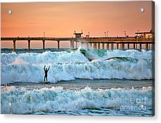 Surfer Celebration Acrylic Print