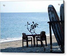 Surfer Corner Acrylic Print by Neon Flash