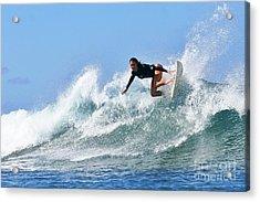 Surfer Girl At Bowls 5 Acrylic Print by Paul Topp