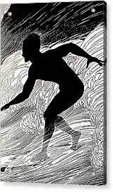 Surfer Acrylic Print by Hawaiian Legacy Archive - Printscapes