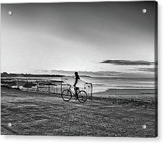 Surfer On A Bike Acrylic Print