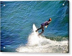 Surfer, Steamer Lane, Santa Cruz, Series 19 Acrylic Print
