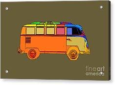 Surfer Van Transparent Acrylic Print
