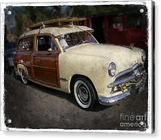 Surfer Wood Panel Car Acrylic Print