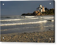 Acrylic Print featuring the photograph Surfers At Good Harbor by AnnaJanessa PhotoArt
