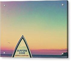 Surfers Code Acrylic Print