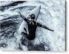 Surfers Cross Acrylic Print by Thomas Gartner