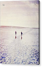 Acrylic Print featuring the photograph Surfers In The Snow by Lyn Randle