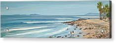 Surfers Point The Cove Acrylic Print by Tina Obrien