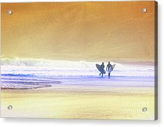 Acrylic Print featuring the photograph Surfers by Scott Kemper