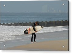 Surfing 116 Acrylic Print by Joyce StJames