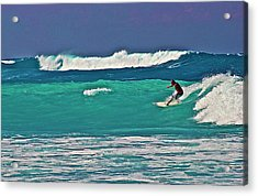 Surfing At Anaeho'omalu Bay 2 Acrylic Print