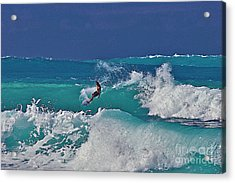 Surfing At Anaeho'omalu Bay Acrylic Print