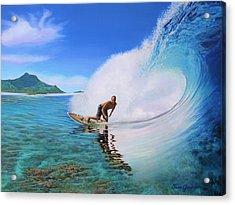 Surfing Dan Acrylic Print