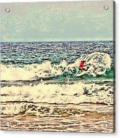 People On The Wave Acrylic Print by Daisuke Kondo