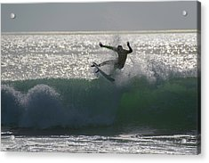 Acrylic Print featuring the photograph Surfing The Light by Thierry Bouriat