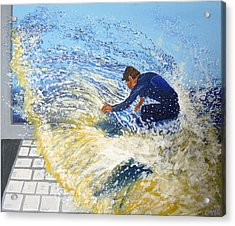 Surfing The Net Acrylic Print by Bill Ogg