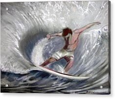 Surf'sup Acrylic Print by Patrick McClintock