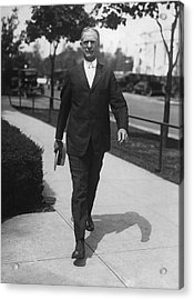 Surgeon General Walks To Work Acrylic Print by Underwood Archives