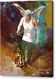 Acrylic Print featuring the painting Surreal Art  by Gull G