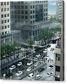 Surreal City Acrylic Print