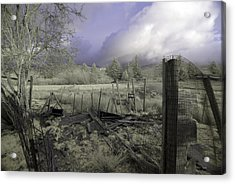 Acrylic Print featuring the photograph Surreal Cloud And Pasture by Chriss Pagani