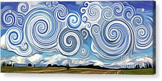 Surreal Cloud Blue Acrylic Print