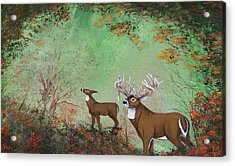 Surreal Deer Acrylic Print by Jena Gillam