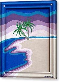 Surreal Palms Acrylic Print by Lourdes  SIMON