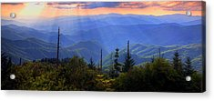 Surreal Smokies Acrylic Print