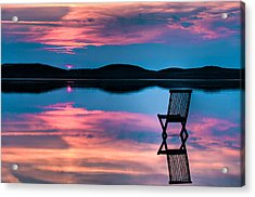 Surreal Sunset Acrylic Print by Gert Lavsen