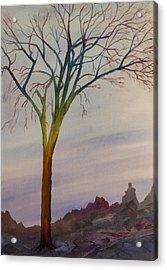Surreal Tree No. 2 Acrylic Print by Debbie Homewood