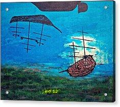 Surrealism At Sea Acrylic Print
