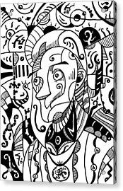 Surrealism Philosopher Black And White Acrylic Print