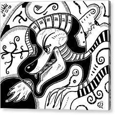 Surrealism Wolf Black And White Acrylic Print