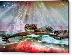Surrender Acrylic Print by Jean OKeeffe Macro Abundance Art