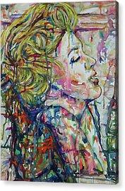 Surround Marylin Acrylic Print by Joseph Lawrence Vasile