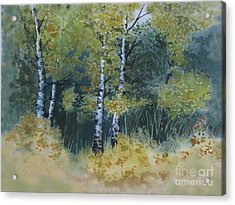 Surrounded By Greenery Acrylic Print by Diane Ellingham